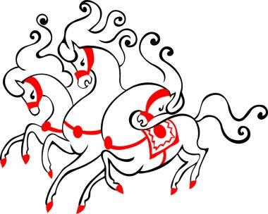 Russian three horses