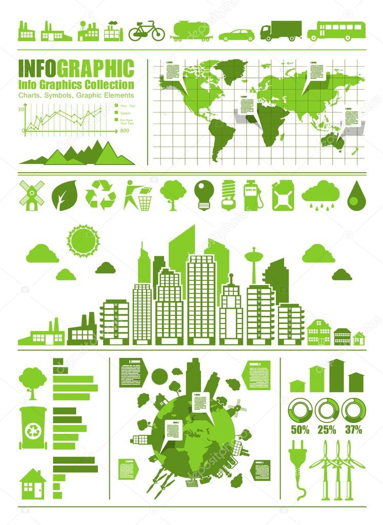 Eco info graphics