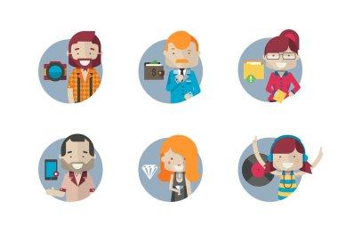 Hipster avatars