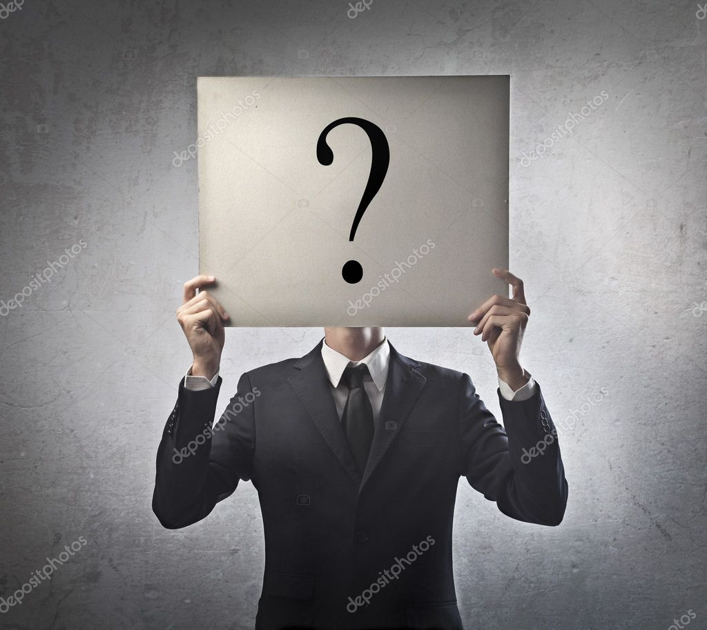 Businessman Question Mark