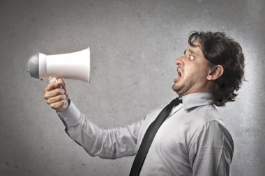 Businessman Receiving a Reprimand