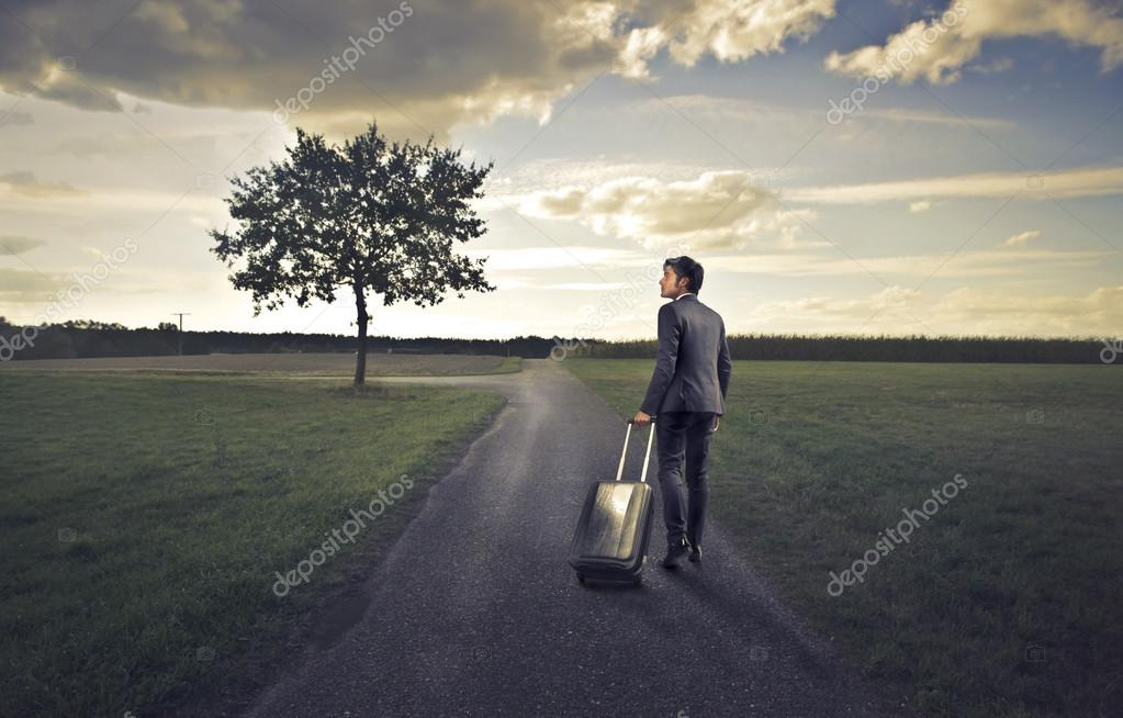 Businessman Leaving