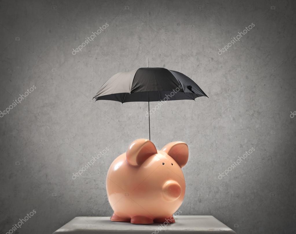 Piggy with an Umbrella