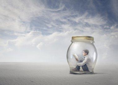 man in a jar