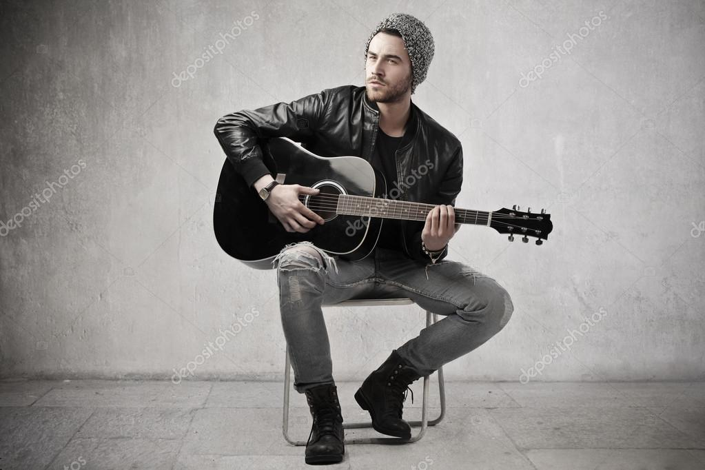 man with a guitar