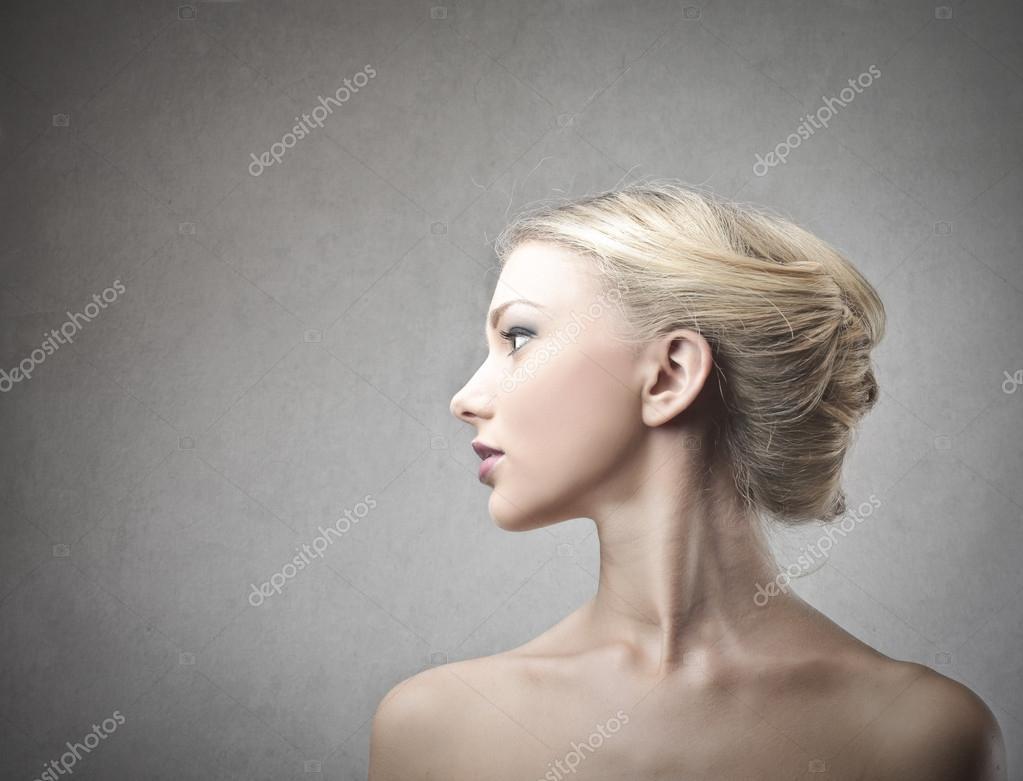 Beautiful woman's profile