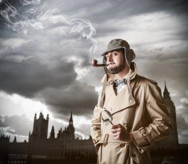 Man feeling Sherlock Holmes