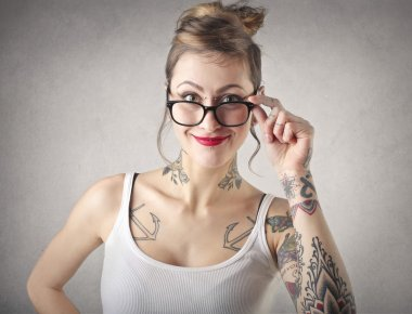 Nerd alternative woman