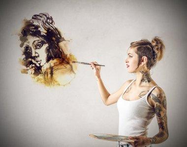 Nice tattooed woman