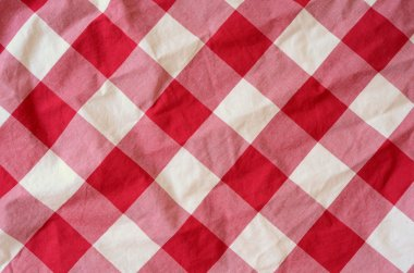 Red Plaid Material Background