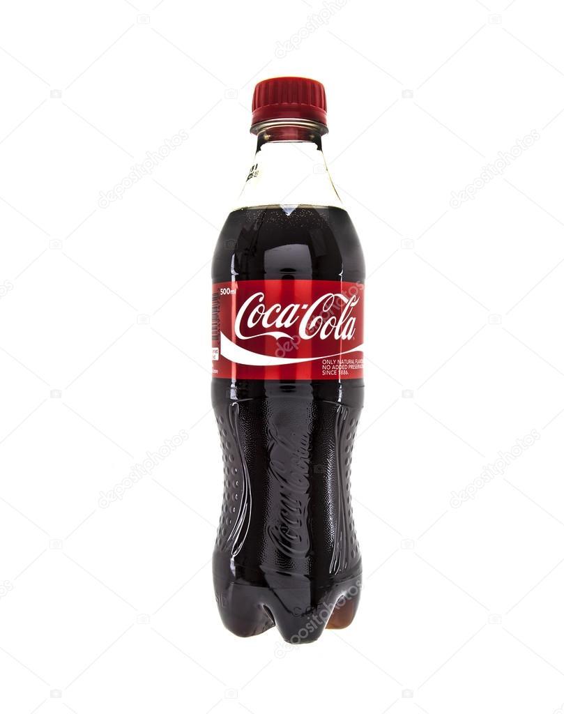 Bottiglia Di Coca Cola Su Sfondo Bianco Foto Editoriale Stock