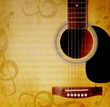 gitar ile müzikal arka plan