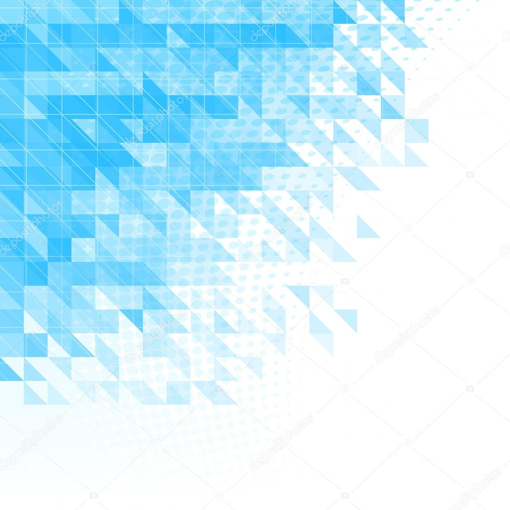 abstract blue background with triangles, squares and lines