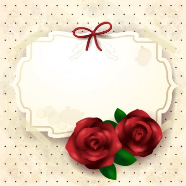 Romantic background with roses, illustration with copyspace. Vector eps10 clip art vector