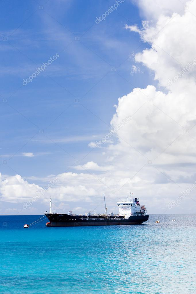 Ship on Caribbean Sea, Barbados
