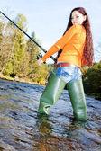 nő halászati otava folyó, Cseh Köztársaság