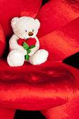 Fotografie Medvídek na červené křeslo