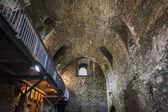 interiér dundonald hradu, ayrshire, Skotsko