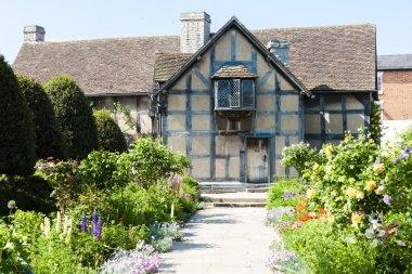 Birthplace of William Shakespeare, Stratford-upon-Avon, Warwickshire, England stock vector