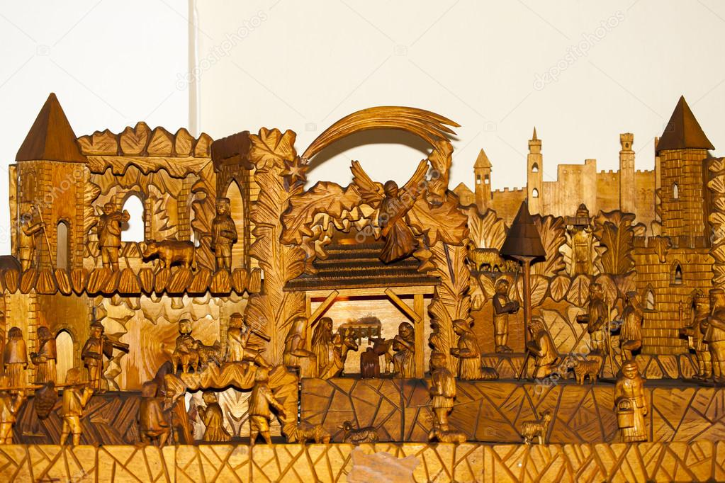 wooden christmas crib with jesus and mary and josef zdja cie od phb cz
