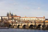 Hradčany s charles bridge, Praha, Česká republika