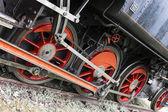 Fotografie detail parní lokomotiva