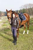 Fotografie jezdec s koněm