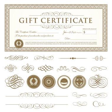 Vector Gift Certificate Set