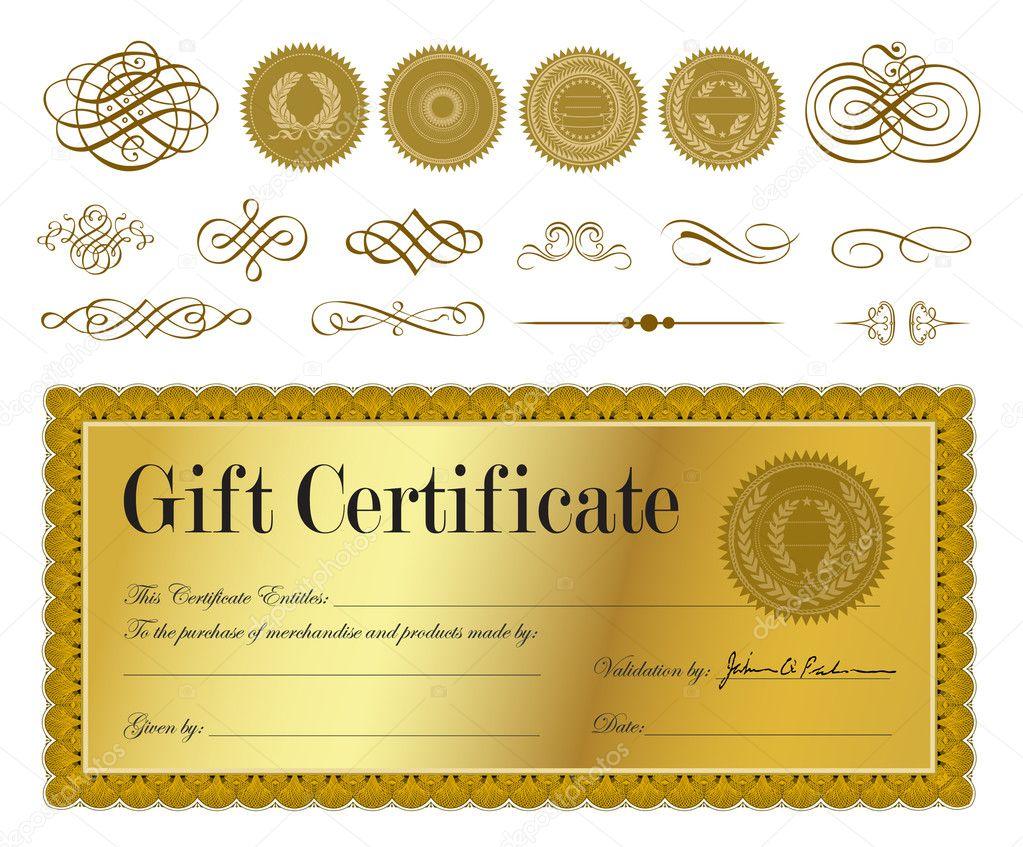 Золотой сертификат на подарок 90