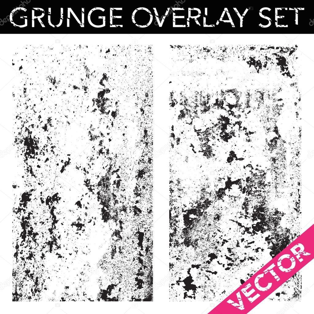 Vector Grunge Overlay Set