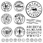 Vektorové kliparty vintage razítko a štítků