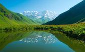 Alpensee in der Nähe von Ushguli, Georgien