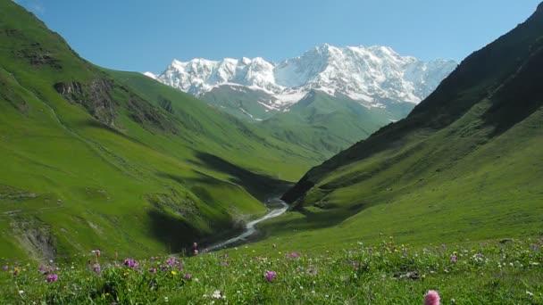 Enguri river valley near Ushguli, Svaneti, Georgia