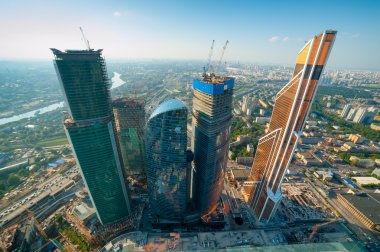 Moscow City Planned to combine business, entertainment and living space for 300,000 people.