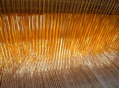 threads in the old weaving loom