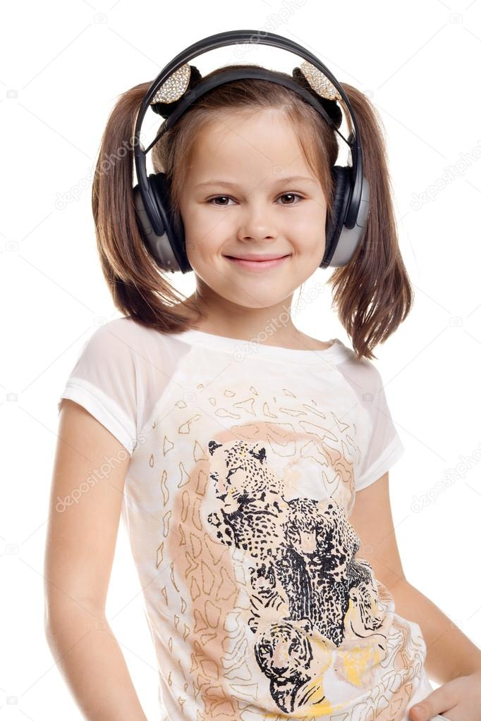 Kid listening to popular music