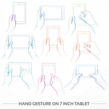Hand Gesture on 7 inch Tablet