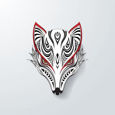 Tribal Fox Head