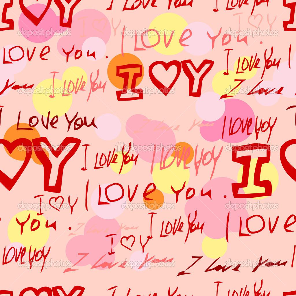 Woorden i love you op roze achtergrond stockvector lolya1988 woorden i love you op roze achtergrond vector van lolya1988 voltagebd Choice Image