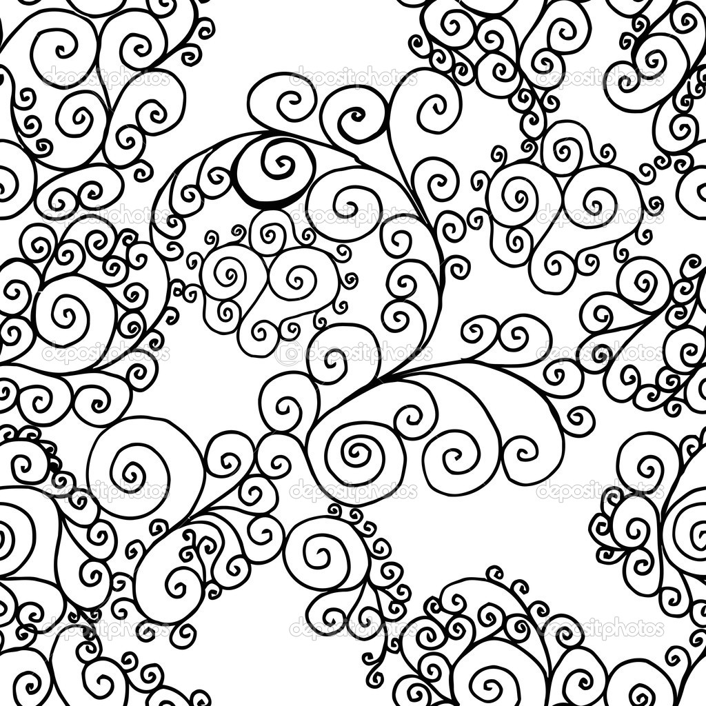swirls background black and white