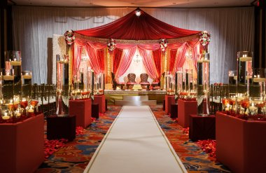 Indian wedding mandap ceremony
