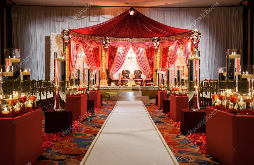decoration salle mariage indien