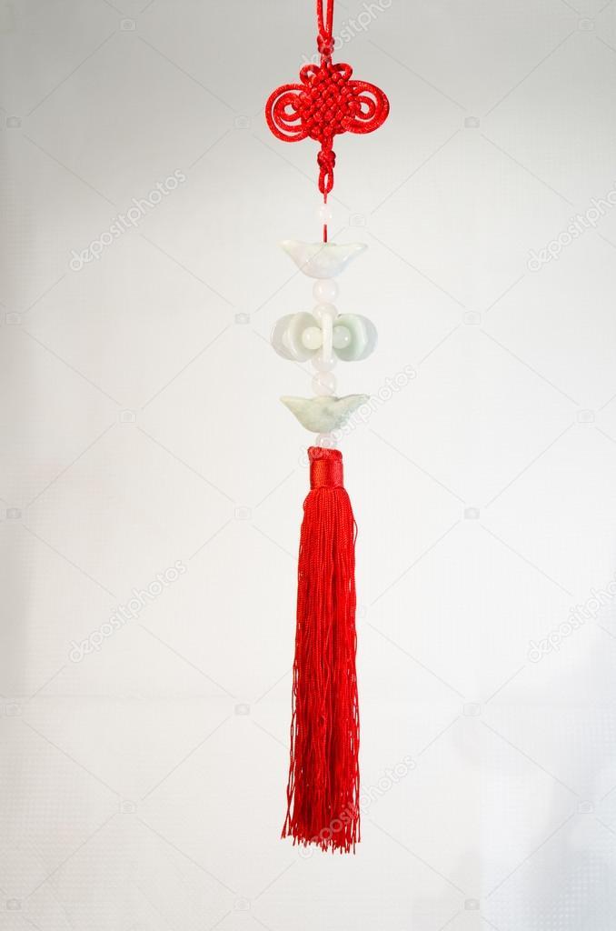 Chinese Knot With Jade Stock Photo Fairyseasky 40278065