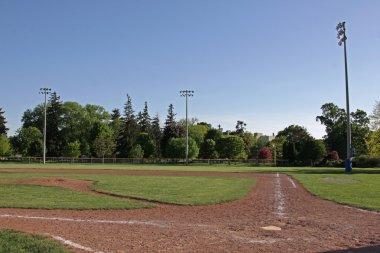 Unoccupied Baseball Diamond