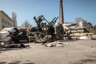 Belbek military base in Crimea, Ukraine