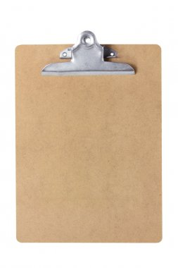 Clipboard on White Background stock vector