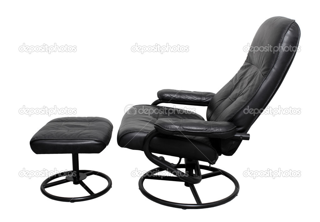 Leather Recliner Chair with Footstool u2014 Stock Photo #22522079  sc 1 st  Depositphotos & Leather Recliner Chair with Footstool u2014 Stock Photo © newlight ... islam-shia.org