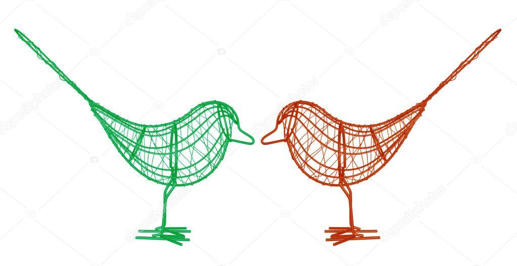 Wire Birds — Stock Photo © newlight #49958879