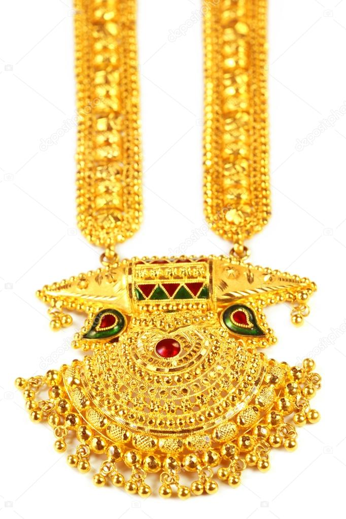 Indian bridal Sita Har or Sita Necklace — Stock Photo © bdspn74 ...