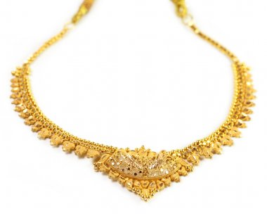 Gold necklace of Indian subcontinent